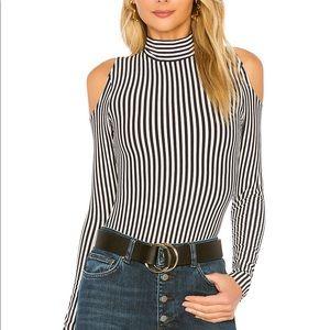 House of Harlow x Revolve striped bodysuit S